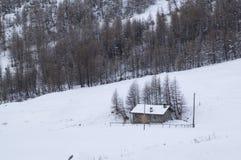 雪的之家 免版税库存图片