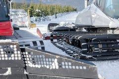 滑雪的倾斜准备的机器 免版税图库摄影