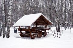 雪的凹室 免版税库存照片