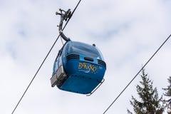 滑雪的升降椅 图库摄影