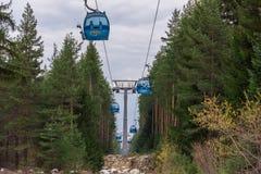 滑雪的升降椅 库存图片
