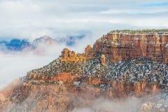 雪的大峡谷国家公园 库存图片
