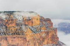 雪的大峡谷国家公园 免版税库存图片