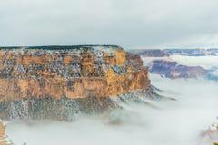 雪的大峡谷国家公园 免版税图库摄影