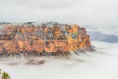 雪的大峡谷国家公园 库存照片