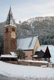雪的教会 图库摄影