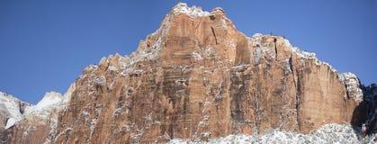 雪的10锡安国家公园 库存图片