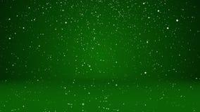 雪秋天和决定表面 作为地方的绿色冬天背景广告的或商标、圣诞节或者新年 皇族释放例证