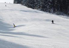 滑雪线索 图库摄影