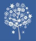 雪结构树 免版税图库摄影