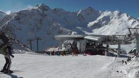 滑雪者下来 股票录像