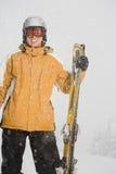 滑雪者的画象 免版税库存图片