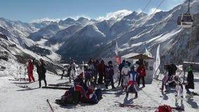 滑雪者起初 影视素材
