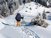 滑雪者起来上升 库存照片