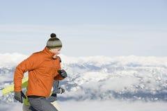 滑雪者跑 免版税图库摄影