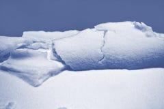 雪背景 雪的纹理 库存图片