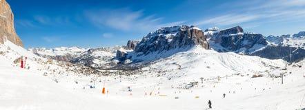 滑雪胜地全景 图库摄影