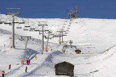 滑雪胜地在Sillian奥地利 库存照片