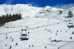 滑雪胜地意大利阿尔卑斯 免版税库存图片