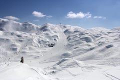 滑雪胜地沃热尔 免版税库存图片