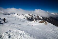 滑雪胜地莱索尔雷,上阿尔卑斯省,法国 库存图片