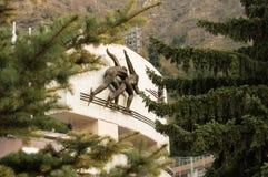 滑雪胜地麦迪奥在哈萨克斯坦 库存图片