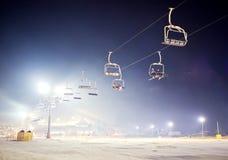 滑雪胜地 免版税图库摄影