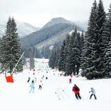 滑雪胜地 库存图片