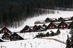 滑雪胜地 库存照片
