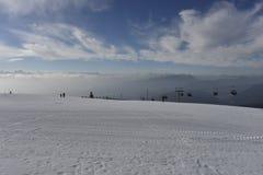滑雪胜地Gerlitzen,克恩顿州,南奥地利 免版税库存照片