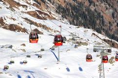 滑雪胜地Kitzsteinhorn/Kaprun,奥地利。 库存照片