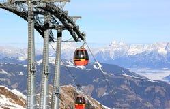滑雪胜地Kitzsteinhorn/Kaprun,奥地利。 免版税图库摄影