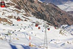 滑雪胜地Kitzsteinhorn/Kaprun,奥地利 免版税图库摄影