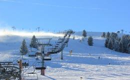 滑雪胜地Zillertal竞技场。盖洛斯,奥地利。 免版税库存照片