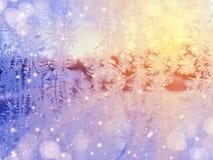 雪花仿造作为冬天纹理背景 库存照片