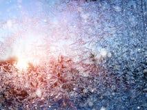 雪花仿造作为冬天纹理背景 图库摄影
