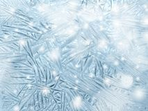 雪花仿造作为冬天纹理背景 免版税库存照片