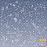 雪花传染媒介 下跌的圣诞节雪秋天 Snowflak 库存例证