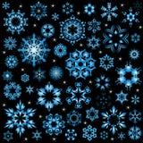 雪花传染媒介以图例解释者为圣诞卡或网站设置了 免版税库存照片