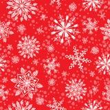 雪花传染媒介无缝的样式天气传统冬天12月包装纸圣诞节背景 免版税库存图片