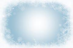 雪花冬天框架  图库摄影