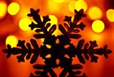 雪花圣诞树装饰 免版税库存图片