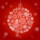 雪花圣诞节球  库存图片