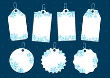 雪花圣诞节礼物标记 向量例证
