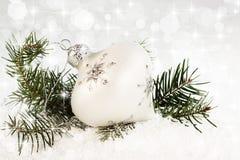 雪花圣诞节装饰品 免版税图库摄影
