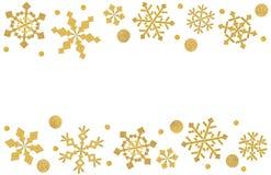 雪花在白色背景切开的框架纸 皇族释放例证