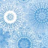 雪花无缝的背景,下雪有花边的模式。 免版税图库摄影