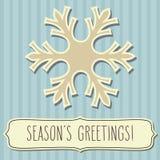 雪花框架和Season& x27; s问候 库存照片