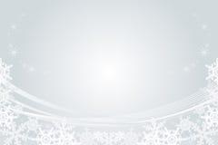 雪花框架,银 免版税库存照片