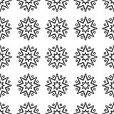 雪花概述样式 传染媒介干净的设计背景 向量例证